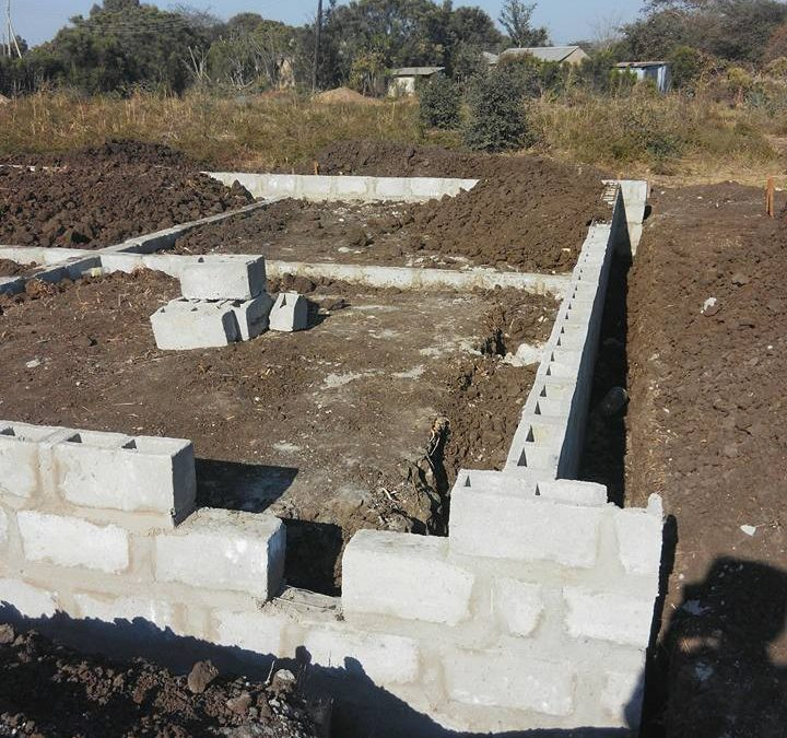 Foundations are in for the new classroom block in Linda.