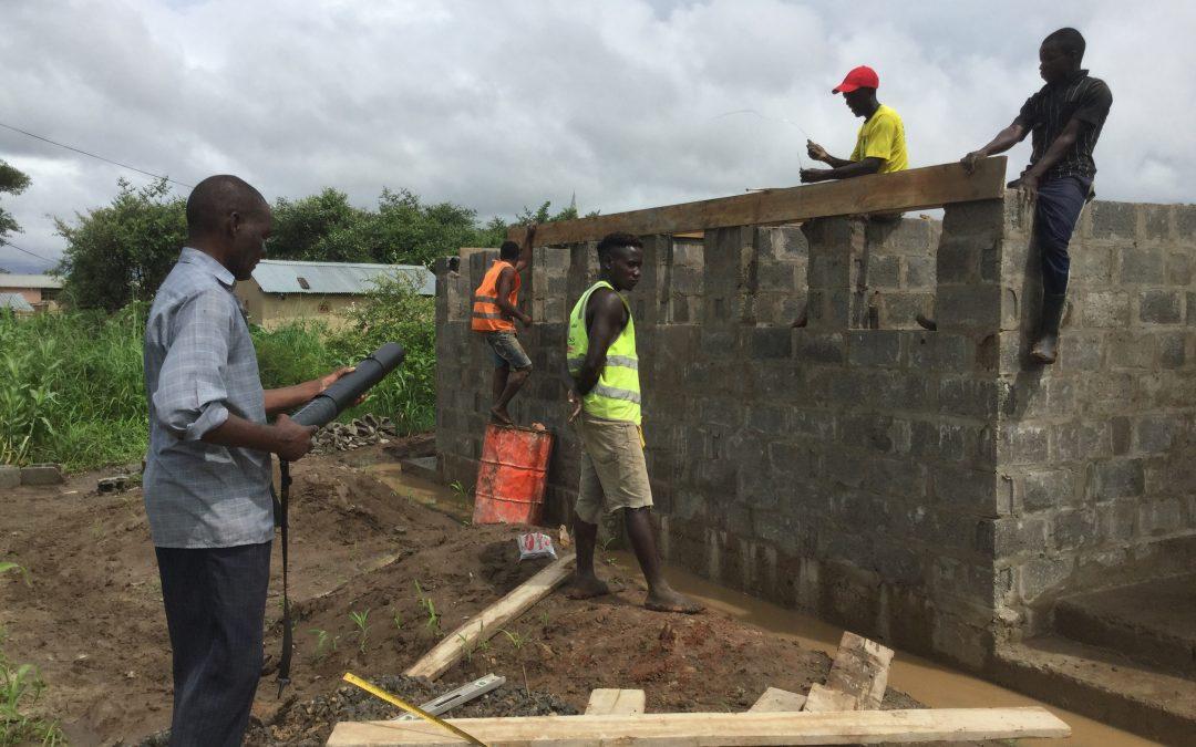 Latest work on the ablution block at Linda Community School