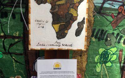 Twin school displays art from Zambia