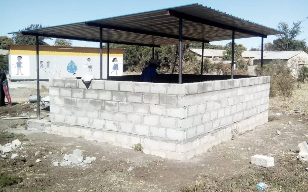 Progress on the new kitchen and ablution block at Linda Community School.