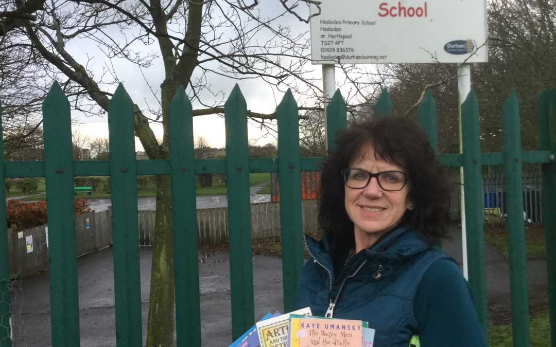 Book donation by Hesleden Primary School