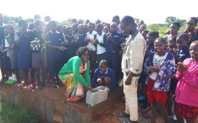 First wall block laid for new classroom at Linda Community School