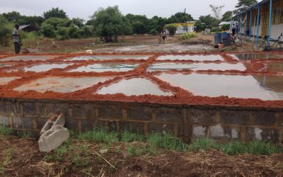 Foundation pad completed for new classroom block at Linda Community School