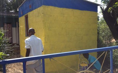 New structure gets painted at Linda Sunrise