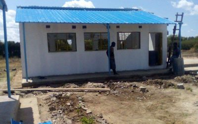 The roof is on latest classroom at Linda Community School