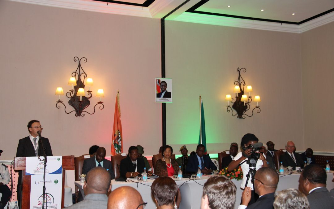 Trustee speaks at Commonwealth Law Conference/children meet President of Zambia