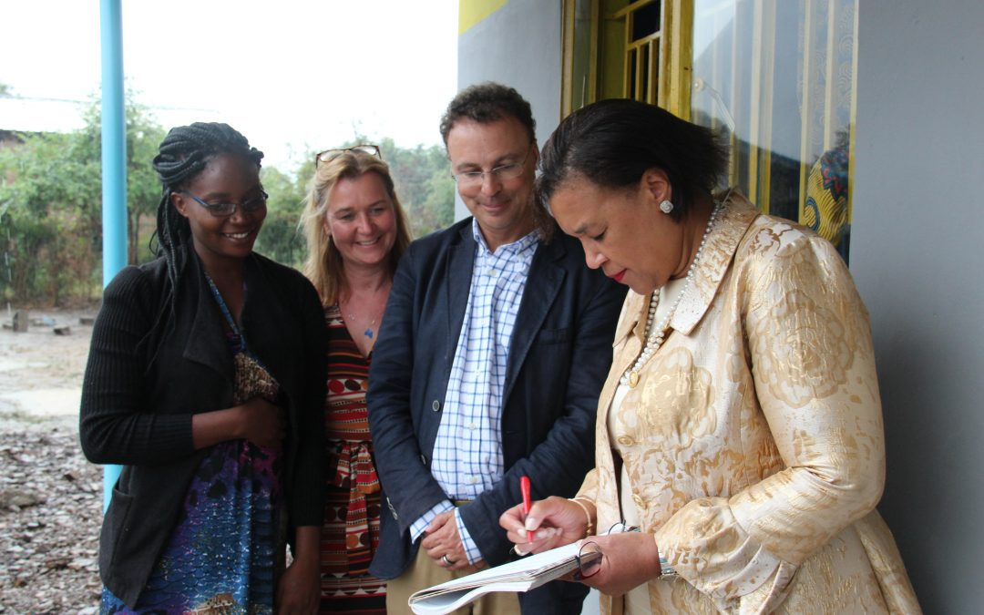 Surprise return visit by Baroness Scotland, Secretary General of the Commonwealth