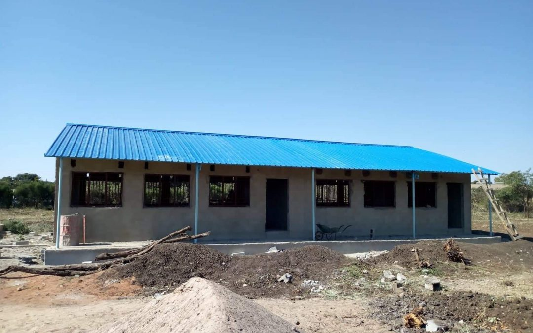 The roof is on our latest classroom block!