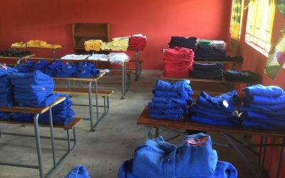 School uniform donations from England.