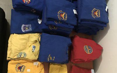 English uniform donations.