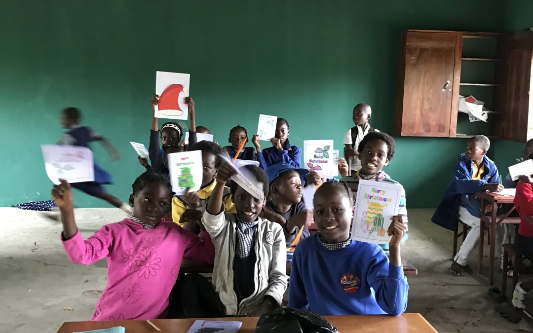 Letters and cards from Bow, Durham School in Zambia