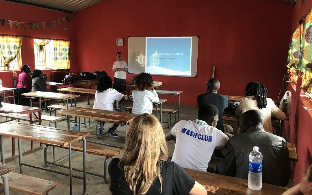 Staff training session at Linda Community School