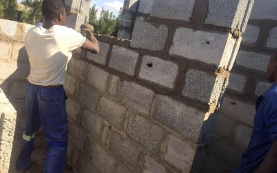 New toilets under construction at Linda Community School