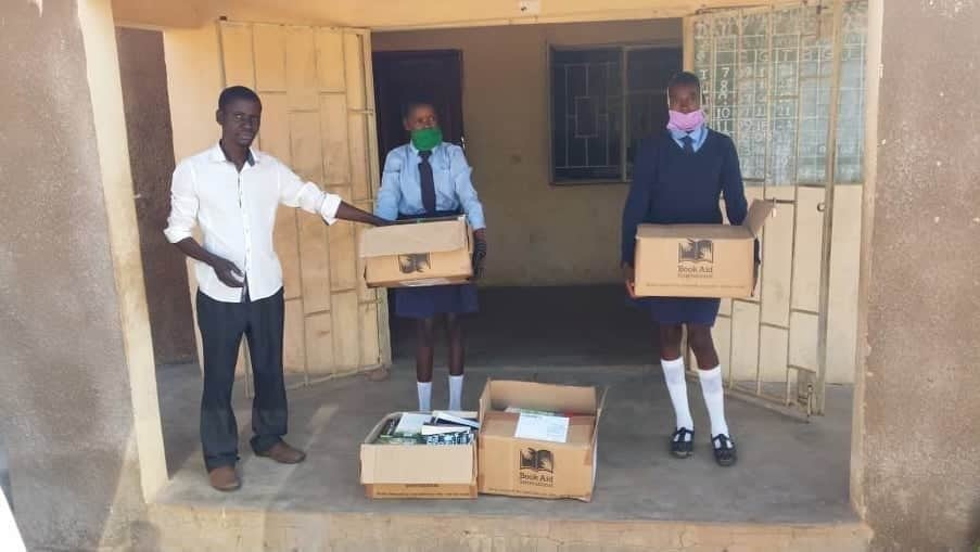 Books arrive at Njokomalomo
