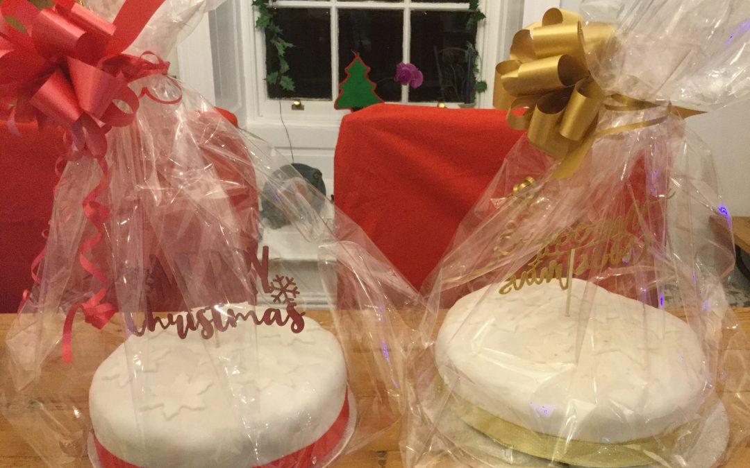 Christmas cake raffle.