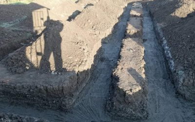Foundation trench footings completed at Linda Community School