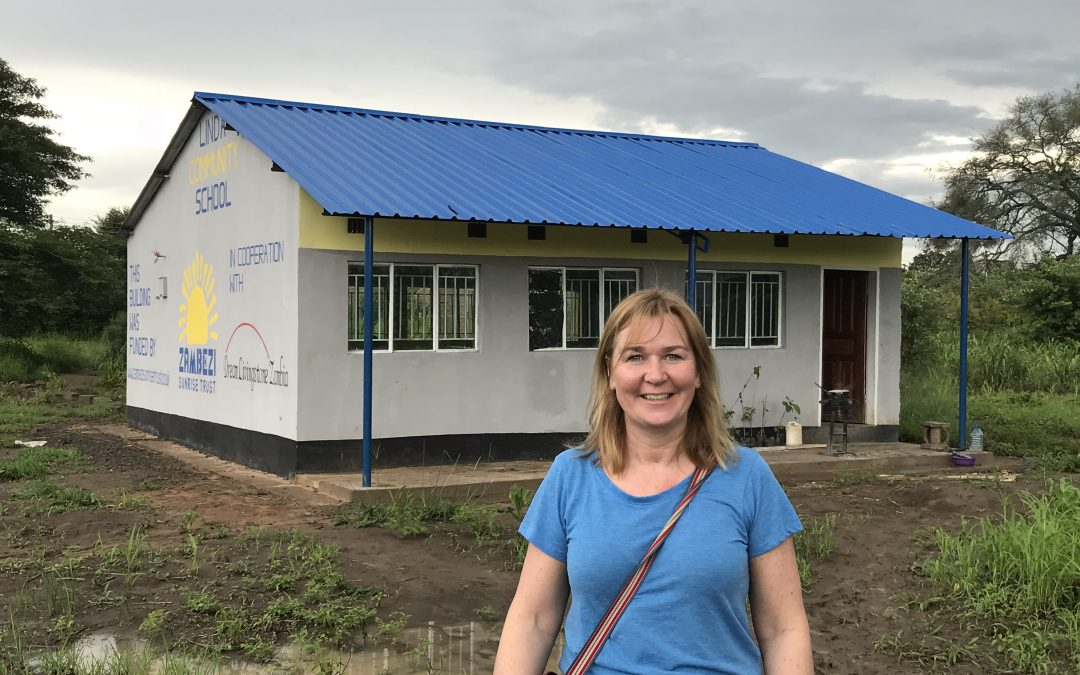 Our trustee Joanne's first day in Zambia this year