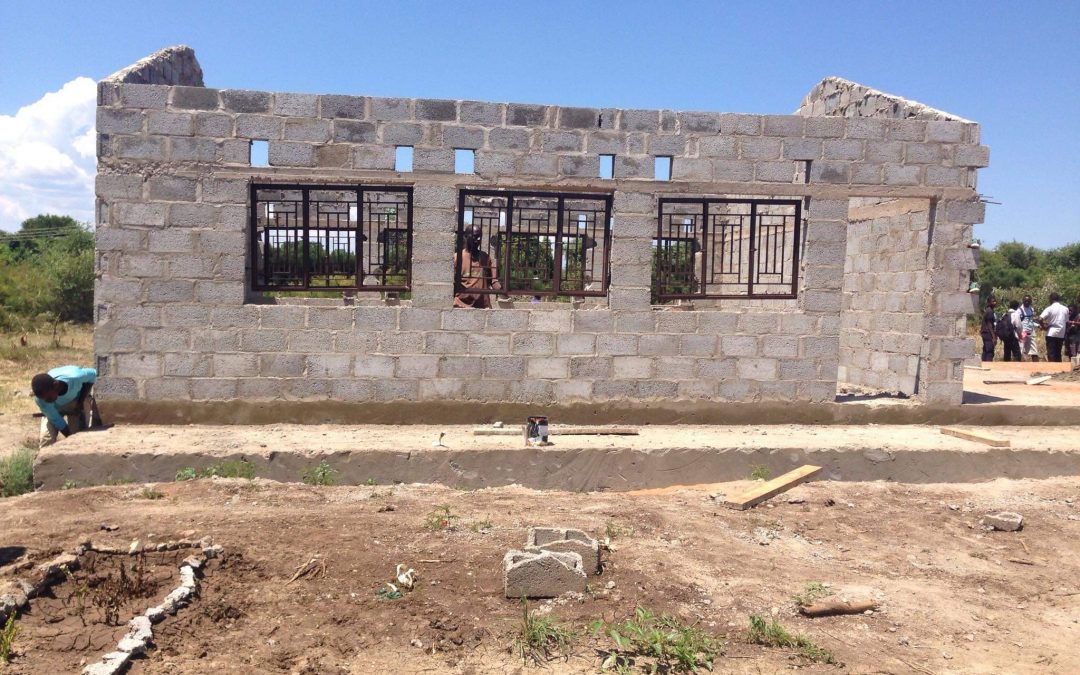 Progress on the new classroom at Linda Community School