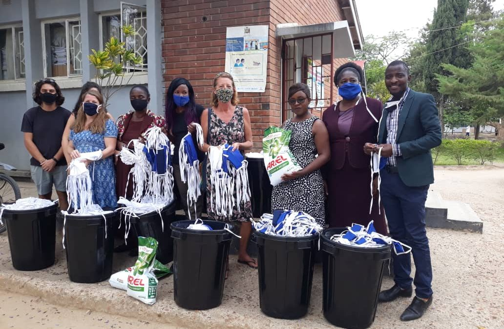 Tiyese ('Let's Try') Craft Initiative make 2,500 face masks for Pure Skills and Ministry of Health.