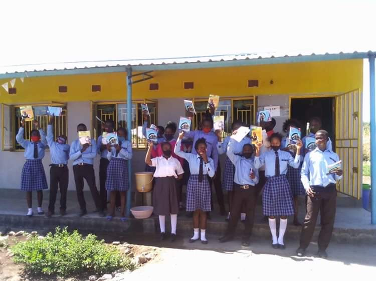 First ever Grade 9 text books at Linda Community School.