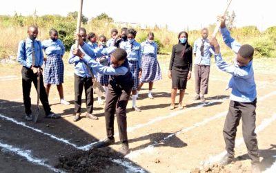 Work begins on new classroom block at Linda Community School.
