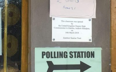 A small role supporting the democratic process!